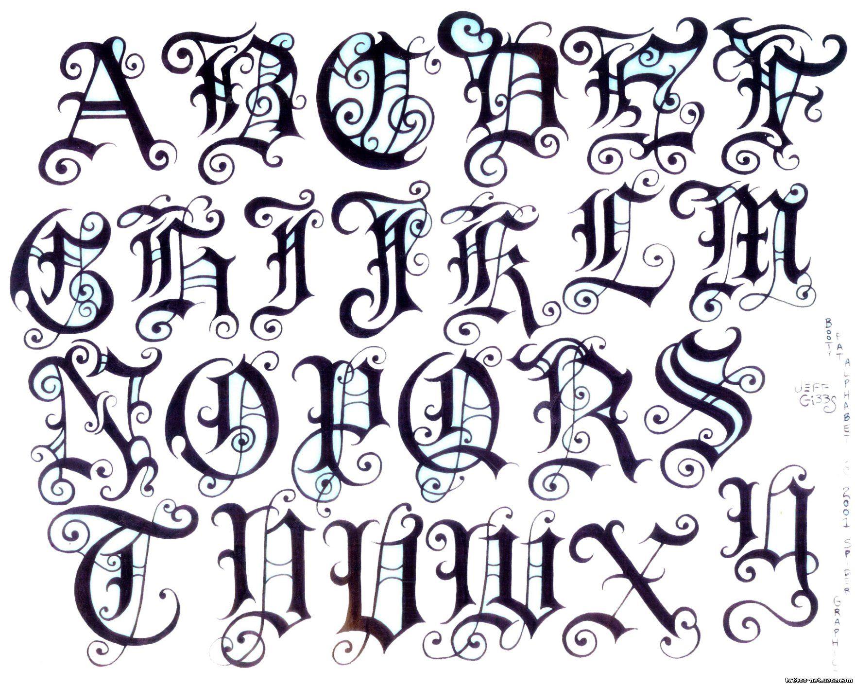 Писать готическим шрифтом онлайн 20 фотография